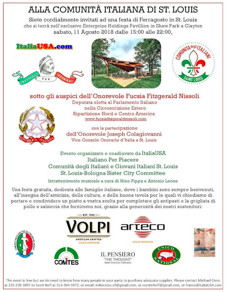 Italian community of St Louis Ferragosto Michael Cross